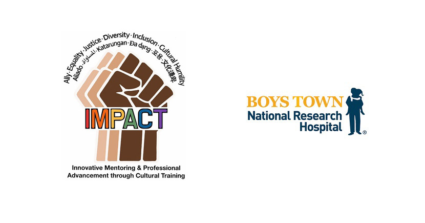 IMPACT (Innovative Mentoring and Professional Advancement through Cultural Training) and Boys Town logos