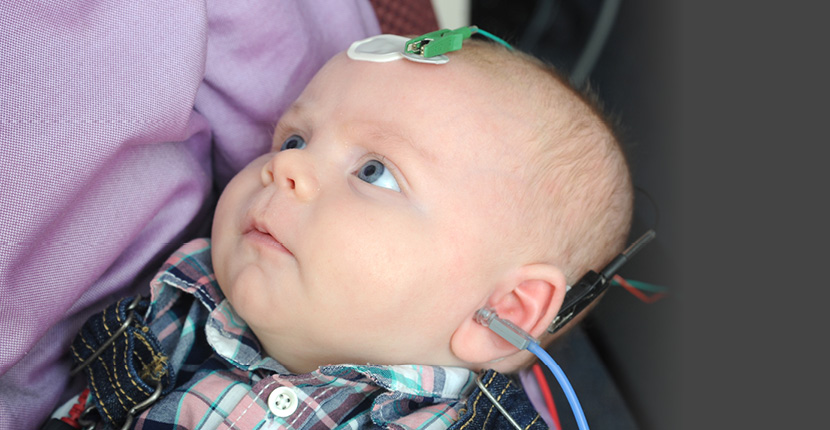 ABR hearing test on baby