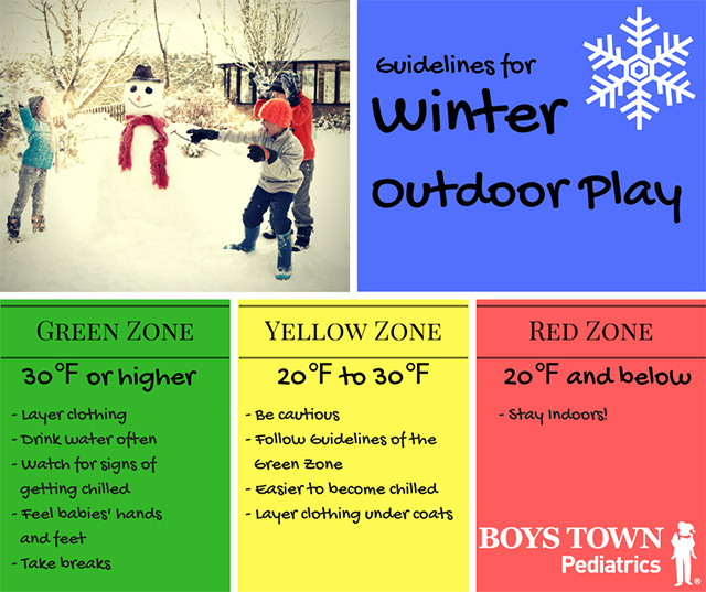Winter Outdoor Play Guidelines