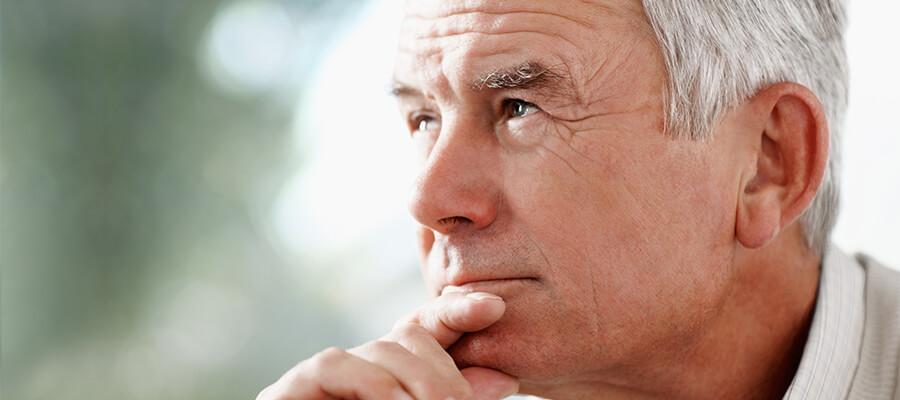 adult man with tinnitus