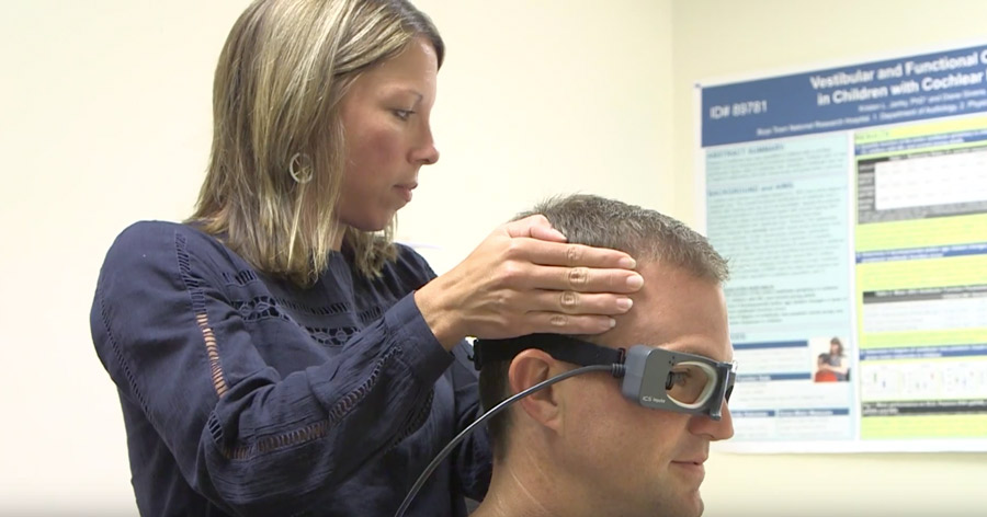 Doctor doing Vestibular Reseach